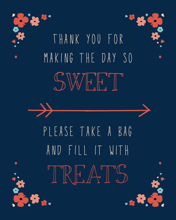 Wedding Candy Bar Sign Navy Coral Digital Download Weddings Bridal Showers Pinterest