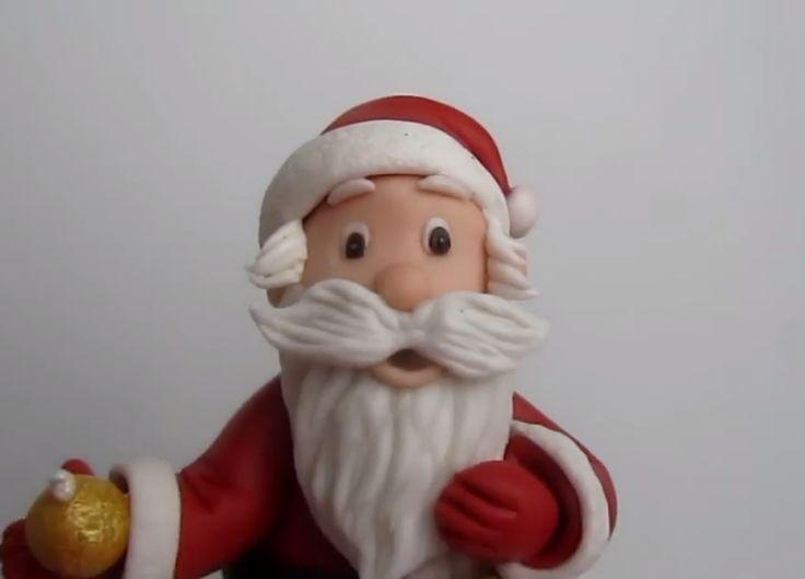 How to make Santa Claus in sugar paste tutorial!