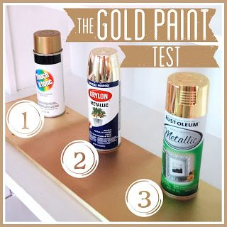 Best Gold Spray Paint.  Some good information.