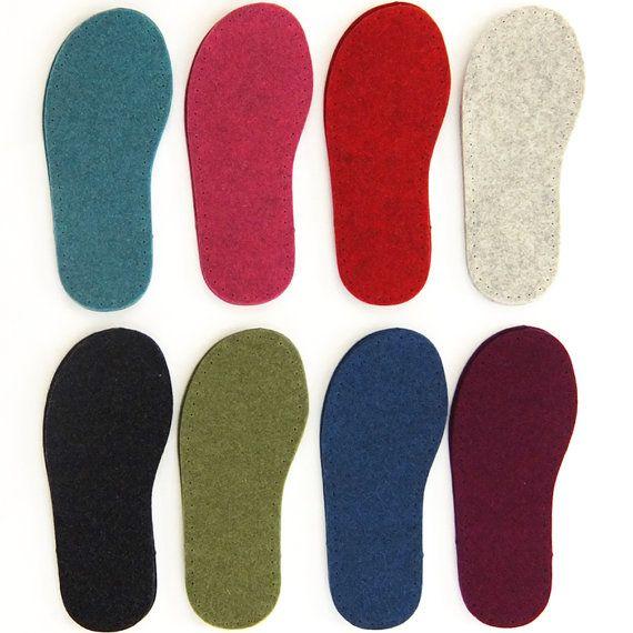 UK Sizes  Thick Felt Slipper Soles great for Slipper by JoesToes