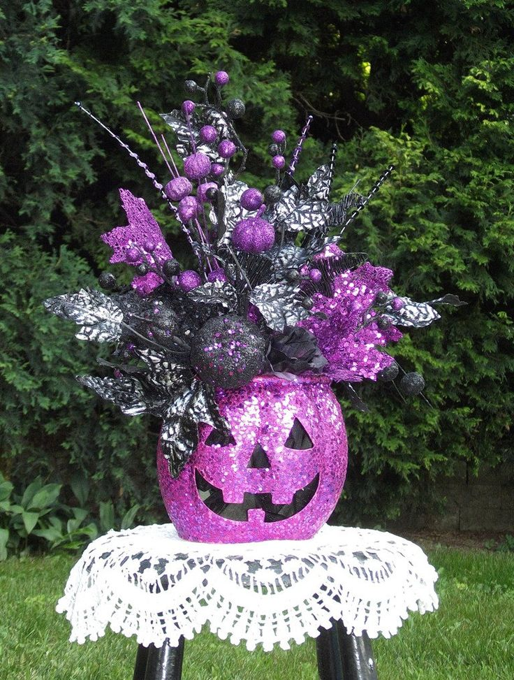 Halloween Floral Arrangement / Jack O by englishrosedesignsoh, $57.99