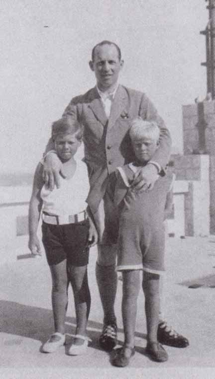 King George II of Greece © with his nephew King Michael I of Romania (l) and first cousin Prince Philip, Duke of Edinburgh ® c. 1930