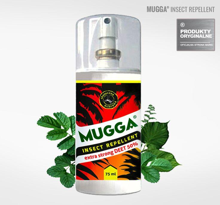 Oryginalna MUGGA Spray -  DEET.  Spray na komary i Kleszcze. Jeden z najlepszych na świecie repelentów na insekty. Bezpośrednia dystrybucja.