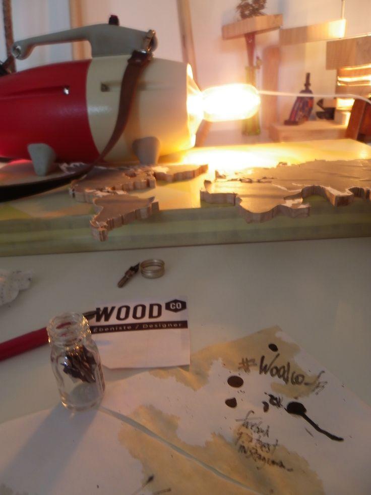Work in Progress ... #woodcodesign #calligraphie #luminaire #bois #creation #mobilier #design #ebeniste #déco #artisan #workinprogress