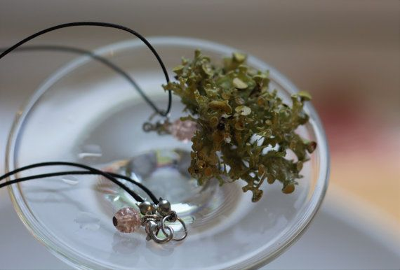 Pink drop natural necklace. Birthday present. by DreamsSanctuary