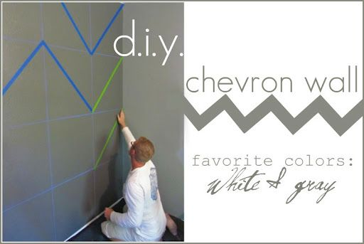 Cheveron painted wall - this will happen on at least one wall in my future home