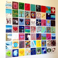 yolandah foster's family & friends painting wall collage in her malibu home!
