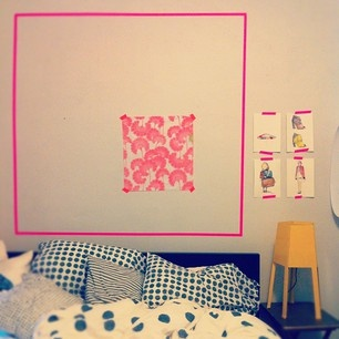 Masking tape can do a lot for a room. This makes me want to play around to see what I can achieve with masking tapes!