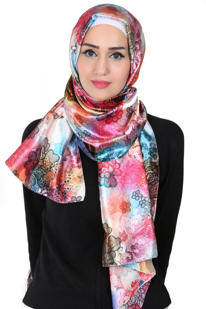 This elegantly designed shawl is decorated with a floral design to boost your confidence and keep you comfortable in style. It's suitable for all occasions. #floral #hijab #modestwear #islamicfashion #hijab2015