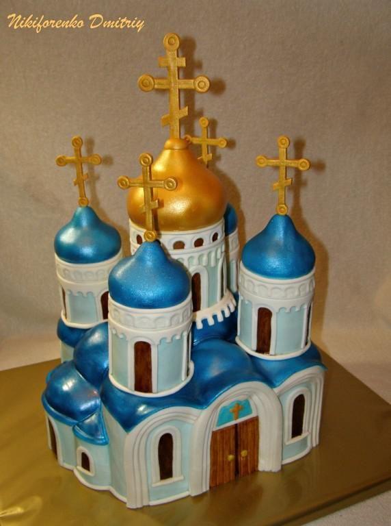 """Торт из пасок """"Церковь Христа Спасителя"""""""