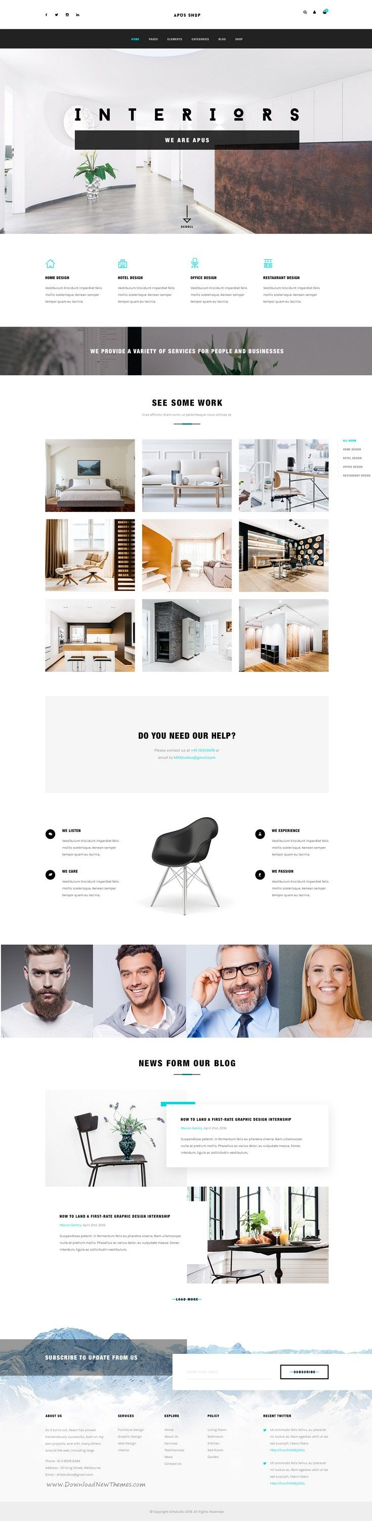 Apus is a uniquely designed 15 in 1 eCommerce website #template designed in #Photoshop with a simple & beautiful look. #interiors Download Now!