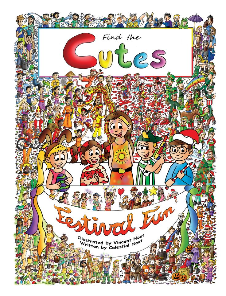 """The 2nd look and find book, """"Find the Cutes - Festival Fun"""" is available for only $2.99 on Kindle as an ebook. The physical copies will be for sale next month. For the Kindle version, go to: http://www.amazon.com/Look-find-book-Cutes-Festival-ebook/dp/B00TFNRWK4"""