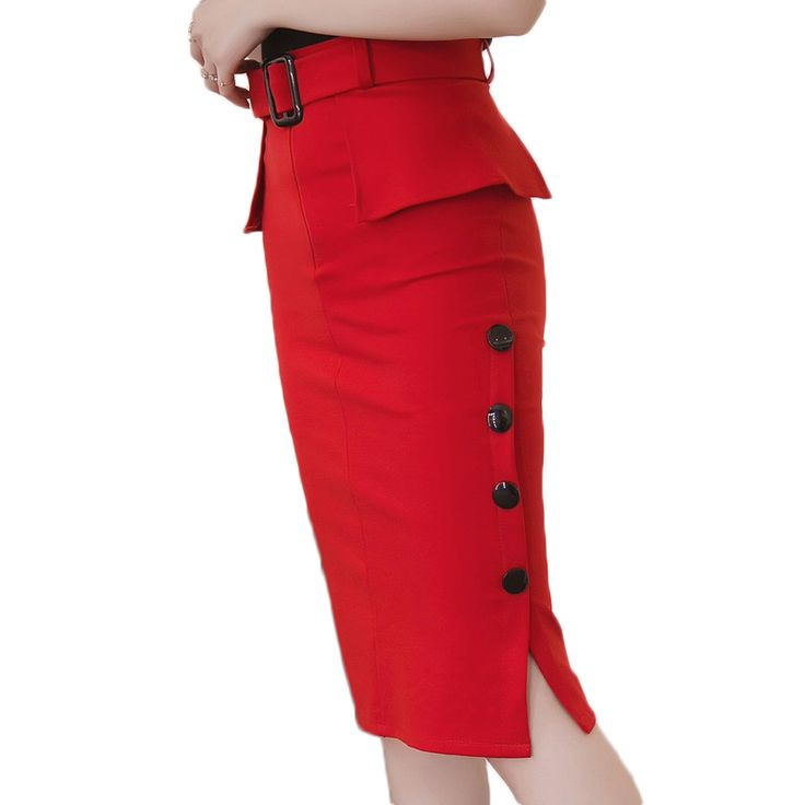 2017 Slim Ladies High Waist  For Casual Or Office Skirt - 5XL Plus Size //Price: $29.70 & FREE Shipping //     #hashtag3