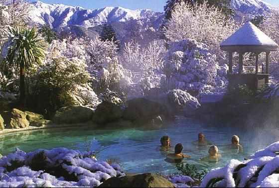 Hamner Springs is well known all around New Zealand for its famous thermal pools.  Will enjoy this place my last night in New Zealand...  http://www.freewebs.com/hanmersprings/