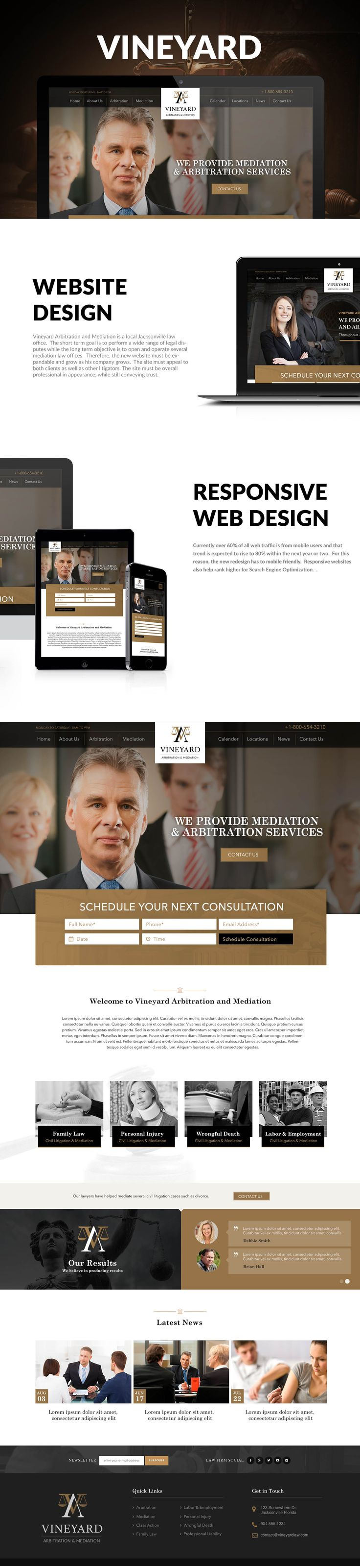 Responsive Website Design with custom calendar software and CMS.