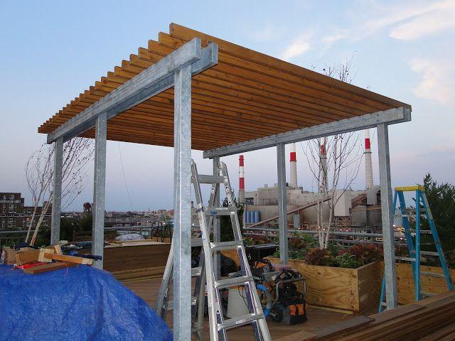 Terrace Makeover: Steel Pergola Work