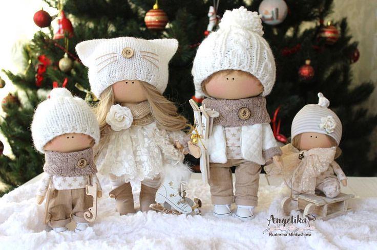 """Mi piace"": 294, commenti: 13 - Angelika Ekaterina Minkashova (@min._ekaterina) su Instagram: ""#новыйгод #baby #doll #dolls #handmade #семья #покажисвоюелку"""