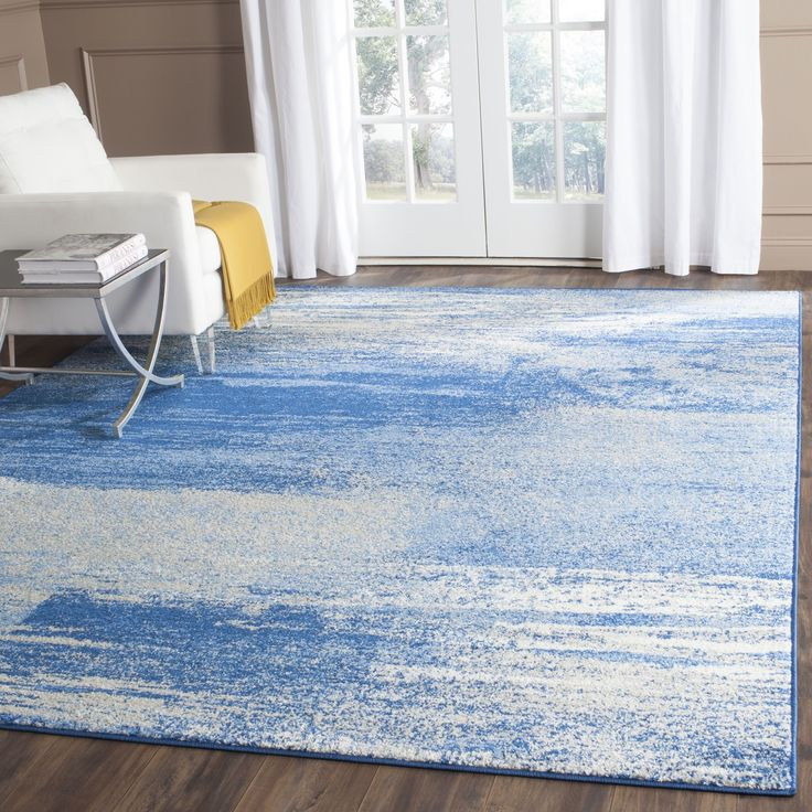 Safavieh Adirondack Modern Abstract Silver/ Blue Rug X