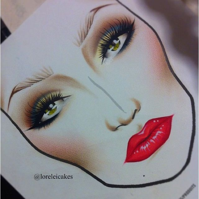 Face chart by Lora Arellano. Incredibly talented MUA. Check out her tumblr page!