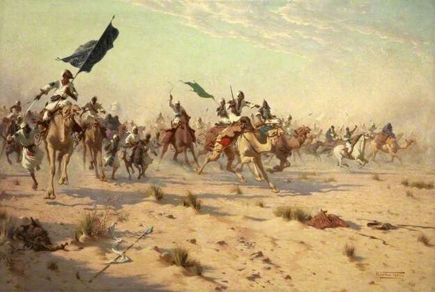 The Flight of the Khalifa after His Defeat at the Battle of Omdurman, 1898 by Robert George Talbot Kelly