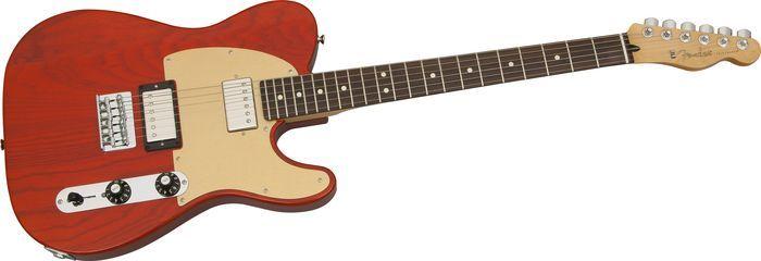 FenderFSR Blacktop Ash Telecaster Electric GuitarSunset Orange TransparentRosewood Fretboard
