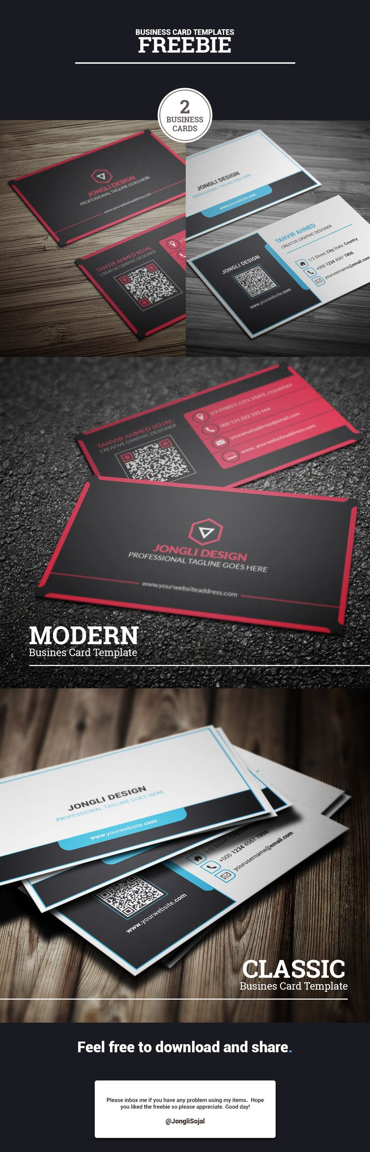 237 best business card design images on pinterest business cards a modern card design for corporate or personal use free business magicingreecefo Gallery