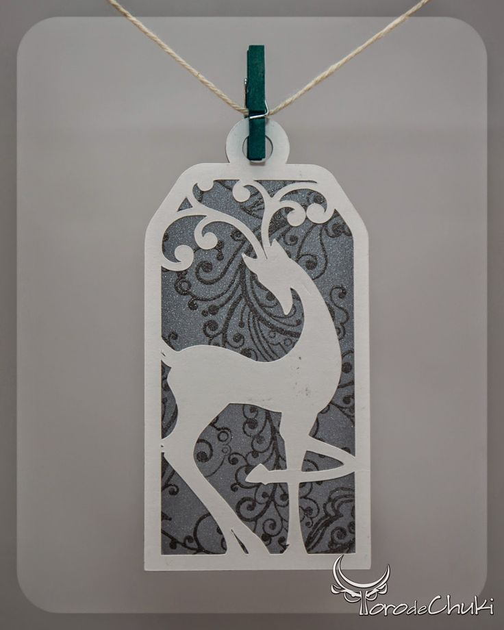 Awesome SVGs: Day 9 - Elegant Flourish Reindeer Gift Tag, 2014 Christmas Series