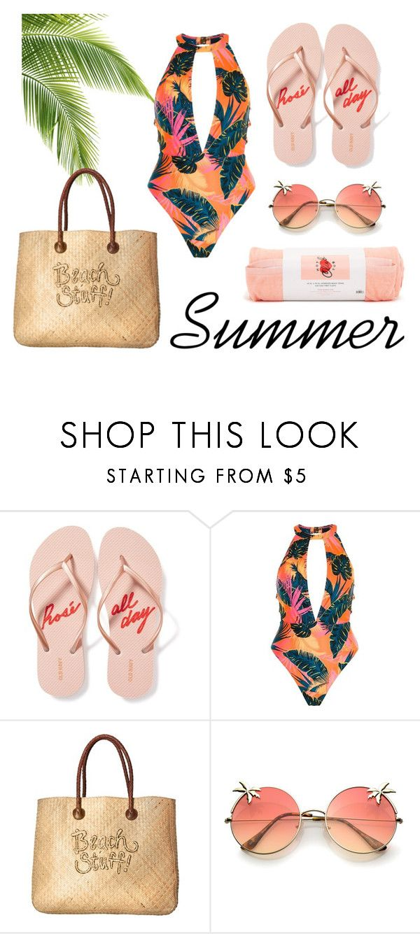 Beach Stuff! by patsilvarte-blog on Polyvore featuring River Island, Old Navy, White Stuff and ban.do  #summeroutfit #beachandsun #beachfashion