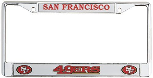 NFL San Francisco 49ers Chrome Licensed Plate Frame ||SPORTING_GOODS|| Made by Rico Industries