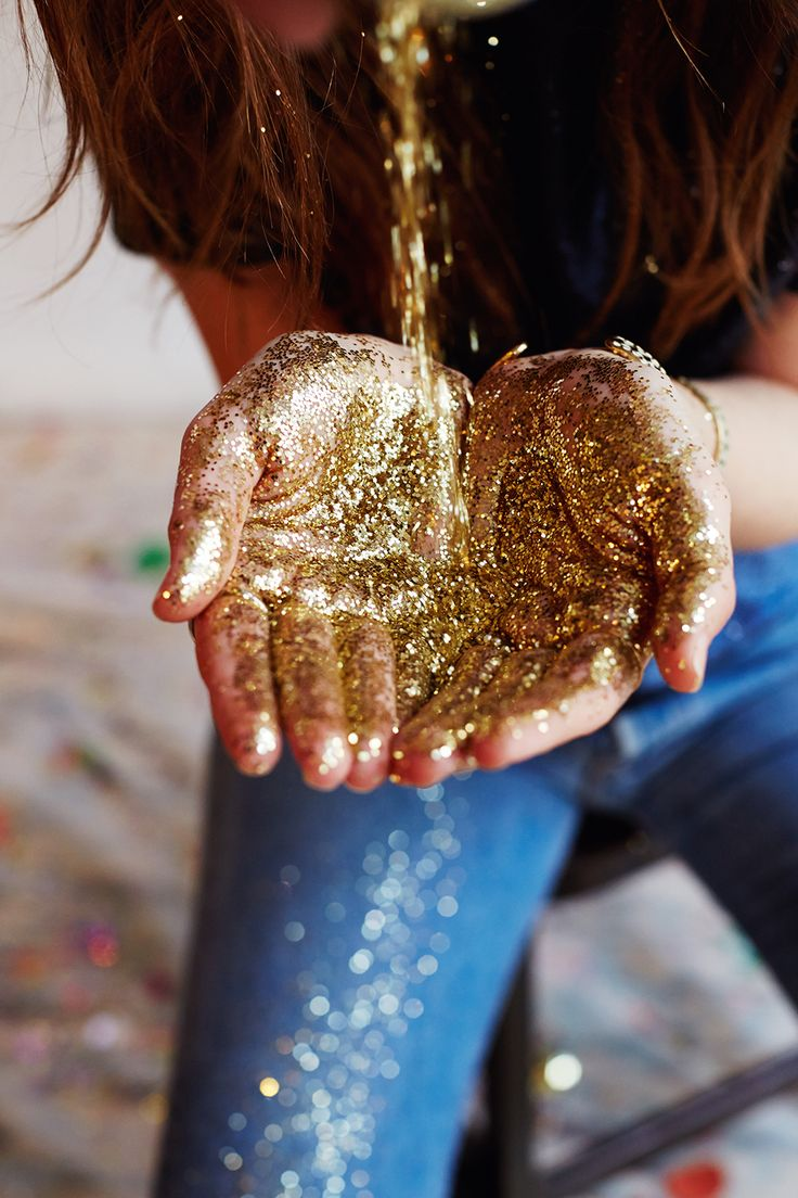 As the glitter spews out, raging in all directions , the screaming starts. But only I can hear it. Because all they know is that its raining sparkling gold and that I'm showering them with it.