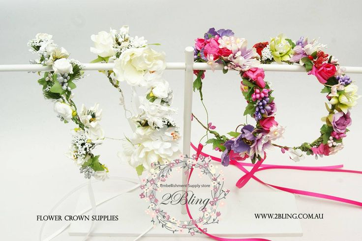 Just spending the last hour making these flower crowns. Last minute preparation for wedding party tomorrow.  Get your flower crown supplies here http://www.2bling.com.au/supporting-diy-projects/diy-flower-crown-supply-Australia  #flowercrown #photoprop #springwedding #flowergirlaccessoriees #DIYbride #Craftinspiration #DIYinspiration #craft