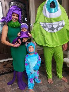 Monster Inc. Family Theme Halloween Costumes
