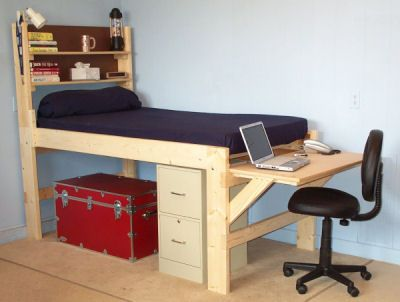 Loft Beds With Desk for Youth Kids Tween Teen and College - Loft Beds