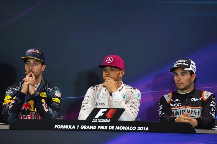 FIA post-race press conference - Monaco雨のために、セーフティカー先導のスタートとなったモナコGP。優勝したルイス・ハミルトンとポールポジョンを取りながら2番手に...