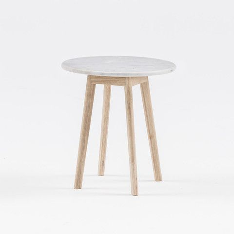 SIDE TABLE   marble + timber by harpers project   Cranmore Home