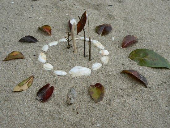 beach art, Whangarei, New Zealand