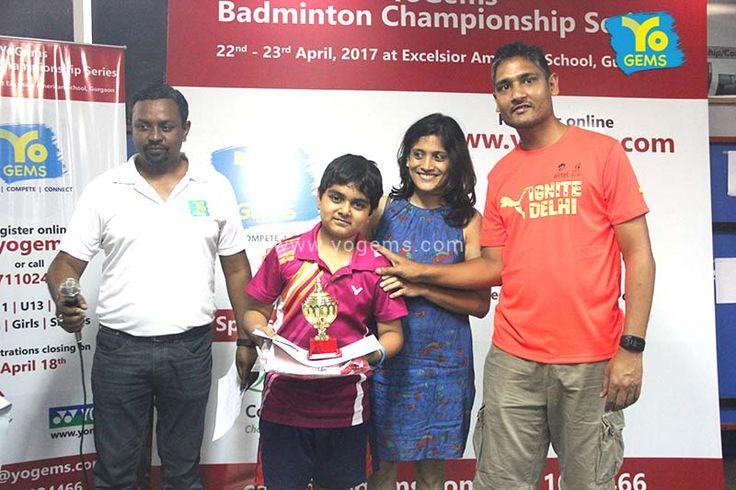 #YoGems congratulates Prerit Yadav of Mount Carmel School for being Winner in BS U11 #YoGems #Badminton Championship Series