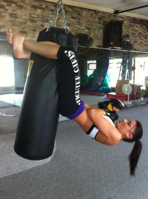 I will be able to do this, this year! punching bag sit up                                                                                                                                                                                 Mehr