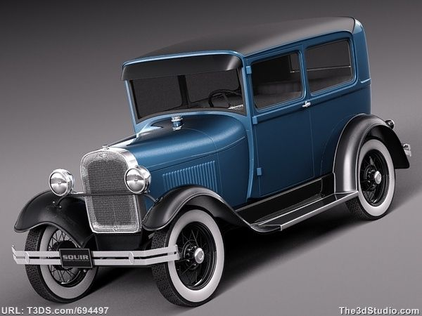 FEATURED NEW 3D MODEL! Royaltyfree 3D Model A Vintage Car