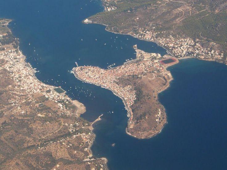 We ❤ Greece | Aerial view of Poros island #Greece #travel #explore #destination