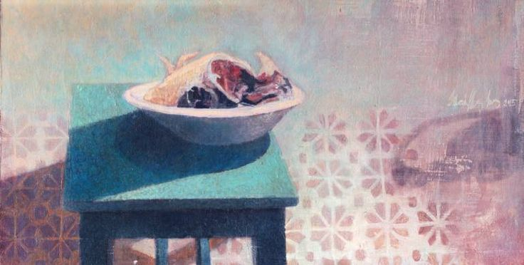 Chicken Meat in Bowl, Ilona Istvanffy