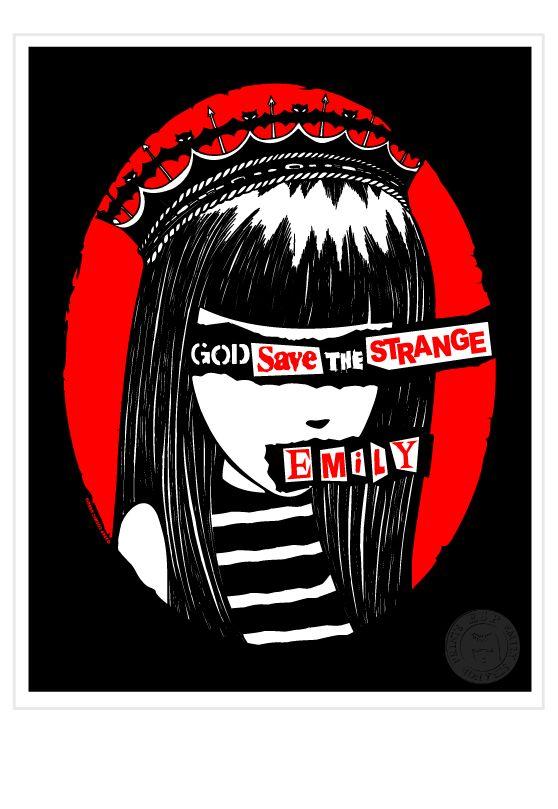 Emily the Strange God Save the Strange Print