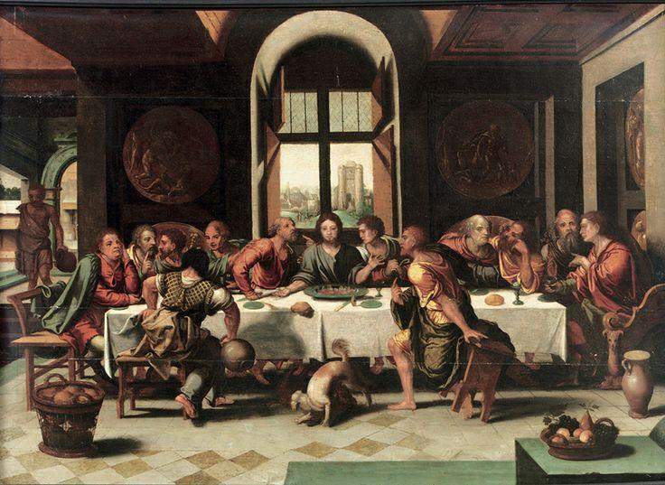 Pieter Coecke van Aelst (1502–1550) : la dernière Cène. 1530. Huile sur bois, 61 x 80.7 cm. Liège, Musée d'art moderne.