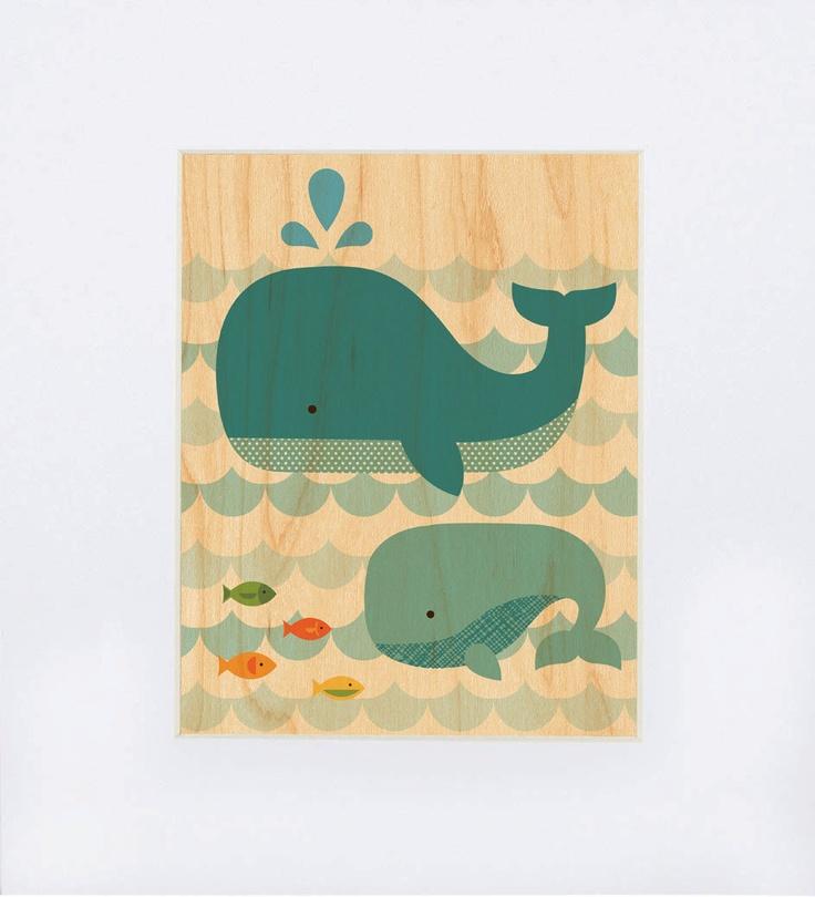 Whale print on Wood: 8X10 Whales, Wood, Whales Art, Whales Baby, Baby Prints, Nurseries Prints, 15 00, 11X14 Whales, Whales Prints