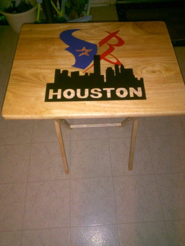 I Did This TV Dinner Table All Hand Painted No Mod Podge, No Decals.