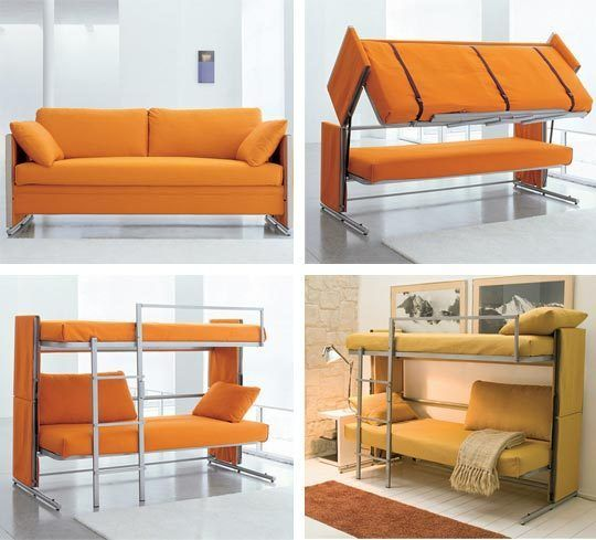 The ultimate sleeper sofa turns into bunk beds smart for Ultimate sofa bed