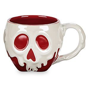 Sip your caffeine drip from this fully sculptured, just-dipped Poisoned Apple Mug, freshly cursed by the Evil Queen. Drink up . . . we dare you.