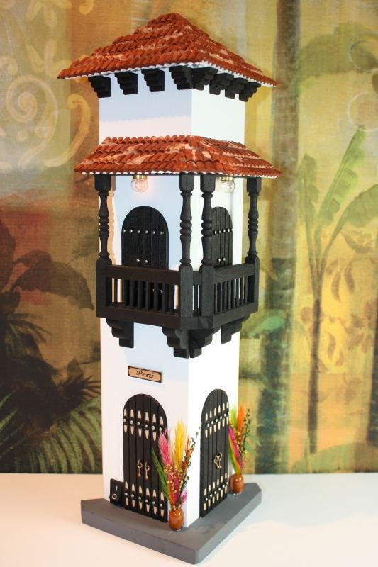 "Wood miniature Decor white house ""The Corner""$39.80"