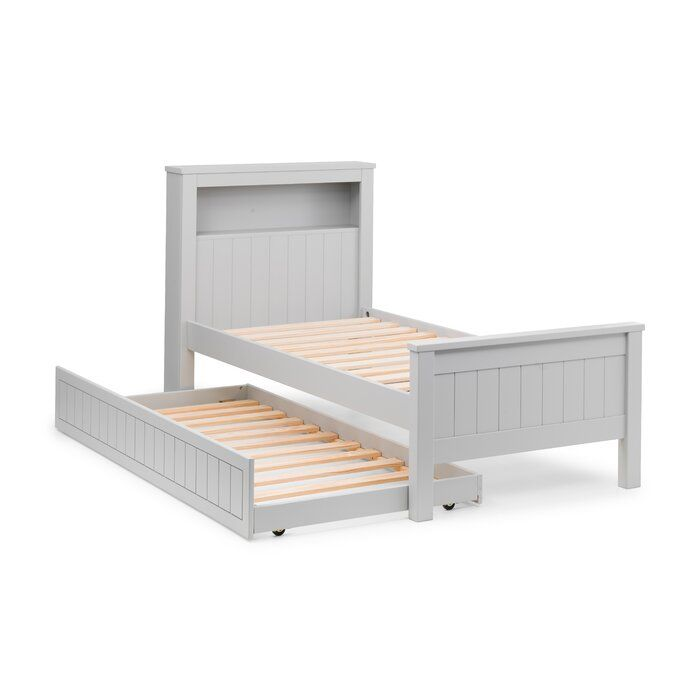 Trident Single 3 Bed Frame With Trundle And Shelf In 2020 Bed