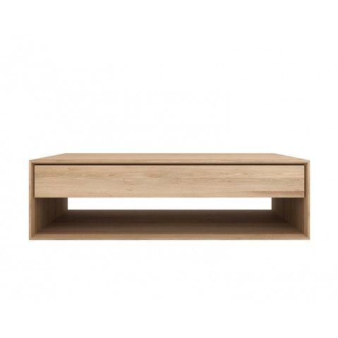 Table basse OAK NORDIC d'Ethnicraft, 1 tiroir, 2 tailles